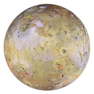 PLANET JUPITER'S MOON IO (solar system) ~ Dinner Plates