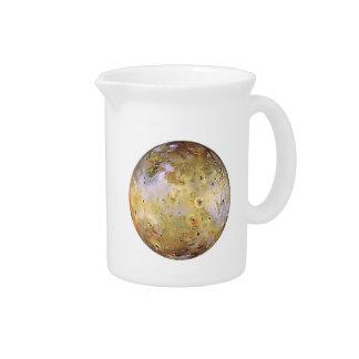 PLANET JUPITER'S MOON IO (solar system) ~~.png Beverage Pitcher