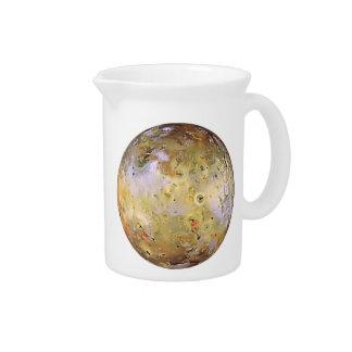 PLANET JUPITER'S MOON IO (solar system) ~.png Beverage Pitchers