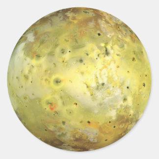 PLANET JUPITER'S MOON IO true color (solar system) Classic Round Sticker