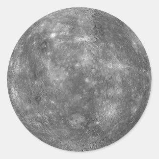 PLANET MERCURY (solar system) ~ Round Sticker