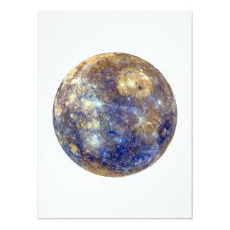 PLANET MERCURY v2 (solar system) ~~ 17 Cm X 22 Cm Invitation Card