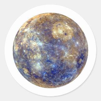 PLANET MERCURY v2 (solar system) ~~ Round Sticker