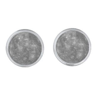 PLANET MERCURY v.1 (solar system) Silver Finish Cufflinks