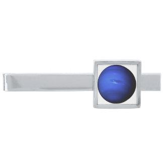 PLANET NEPTUNE (solar system) ~ Silver Finish Tie Clip