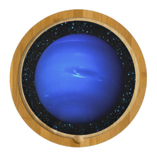 PLANET NEPTUNE with Star Background (solar system) Round Cheese Board