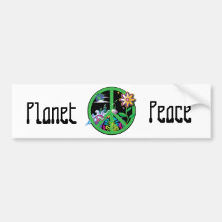 Planet Peace Bumper Sticker