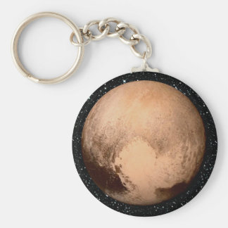 PLANET PLUTO HEART star background (solar system) Key Ring