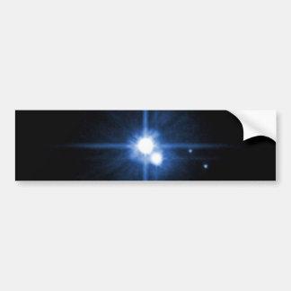 Planet Pluto moon Charon NASA Bumper Sticker