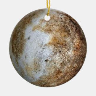 PLANET PLUTO (solar system) ~ Round Ceramic Decoration