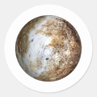 PLANET PLUTO v2 (solar system) ~~ Round Sticker