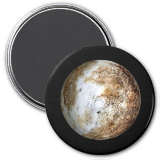 PLANET PLUTO v.2 natural (solar system) ~ 7.5 Cm Round Magnet