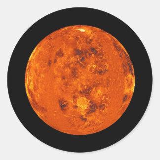PLANET VENUS natural (solar system) ~~ Round Sticker