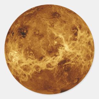 PLANET VENUS RADAR VERSION (solar system) ~ Round Sticker