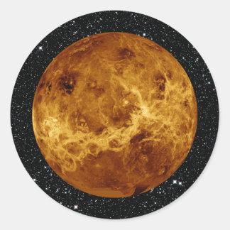 PLANET VENUS radar view star background ~ Round Sticker