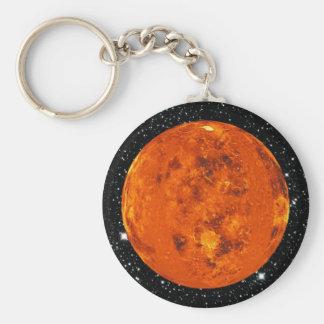 PLANET VENUS star background (solar system) ~ Basic Round Button Key Ring