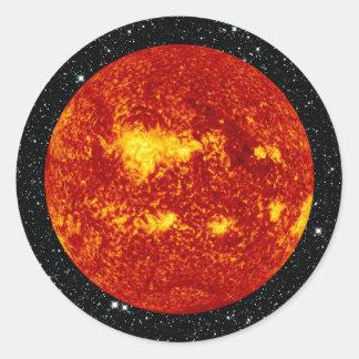 PLANET VENUS TRANSIT high definition on star back Classic Round Sticker