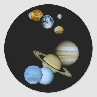 Planetary Montage Classic Round Sticker
