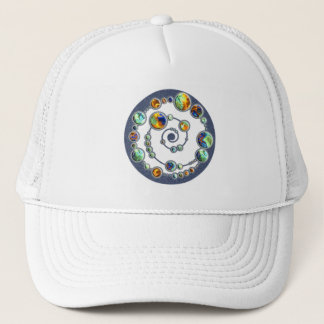 Planets crop circle formation + your backgr. color trucker hat