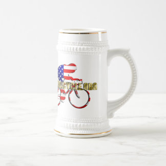 Plano Bicycle American Patriot Cycling Logo Mug