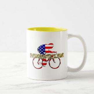 Plano Bicycle American Patriot Cycling Logo Two-Tone Mug