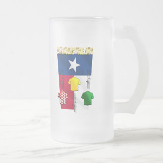 PlanoBicycle.Org Texas flag Cycling Gear Frosted Glass Mug