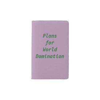 Plans for World Domination! Pocket Moleskine Notebook