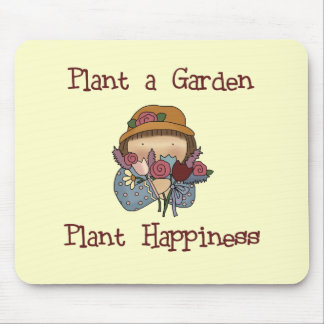 Plant Happiness Gardening Tshirts and Gifts Mouse Pad