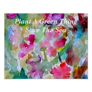 Plants Green Ocean Sea Poster Climate Change 3