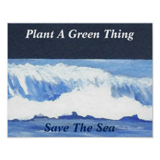 Plants Green Ocean Sea Poster Climate Change 5