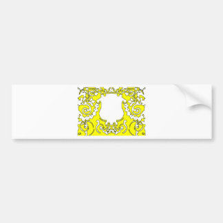 Plaque Yellow transp The MUSEUM Zazzle Gifts Bumper Stickers