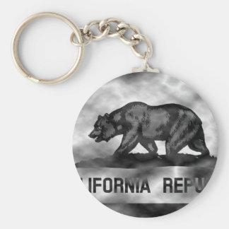 Plasma California Flag Basic Round Button Key Ring