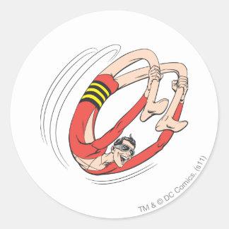 Plastic Man Backbend Wheel Classic Round Sticker