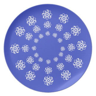 Plate - Atoms Travelling in Concentric Circles