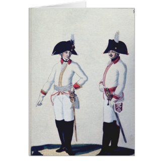 Plate of a soldier in red, yellow & white card