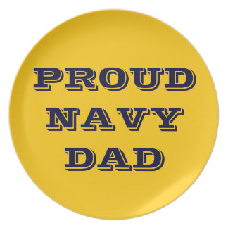 Plate Proud Navy Dad
