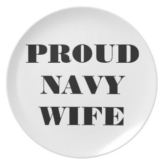 Plate Proud Navy Wife
