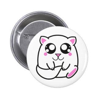 Plate tender kitten 6 cm round badge
