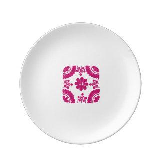 Plate White Talavera porcelain in detail Porcelain Plate