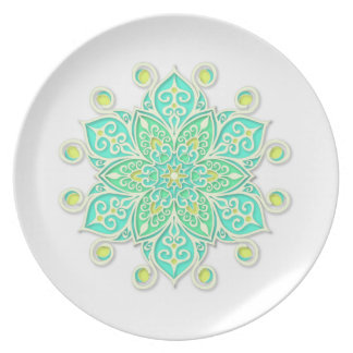 Plate with Colorful Mandala