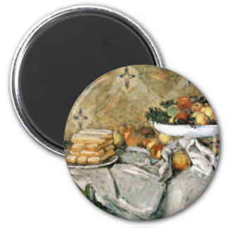 Plate with fruits and sponger fingers - Cézanne Magnet