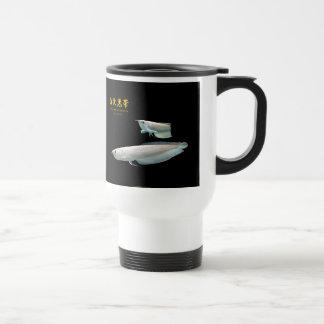 Platinum Black Arowana Stainless Steel Travel Mug