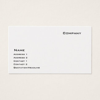 Platinum Business Card