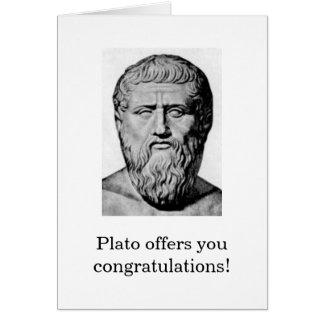 Plato Congratulations Card