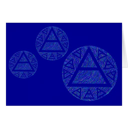 Plato's Air Sign Art Blank Greeting Card