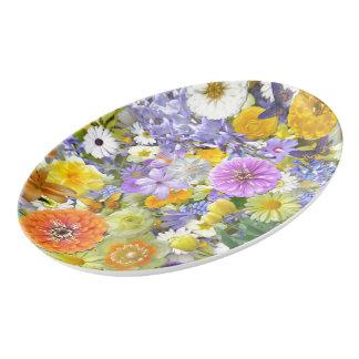 Platter - Flowers and Butterflies