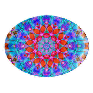 Platter kaleidoscope Diamond Flower G408