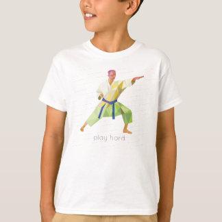 Play Hard Karate Origami T-Shirt