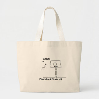 Play Like A Pirate <3 Large Tote Bag