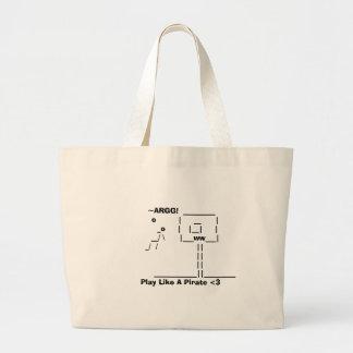 Play Like A Pirate <3 Jumbo Tote Bag
